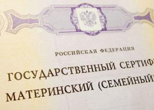 государственный сертификат на материнский семейный капитал